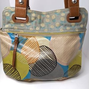 Fossil Key-Per Coated Canvas Tote